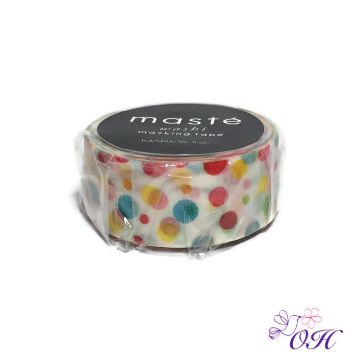masté Colorful Dot Washi Tape - Washi Tape - masté - Orchids and Hummingbirds Designs, LLC
