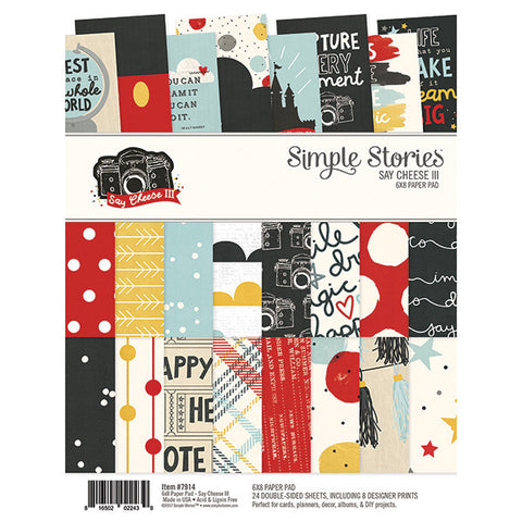 Simple Stories Say Cheese III 6x8 Pad - Scrapbooking Supplies - Simple Stories - Orchids and Hummingbirds Designs, LLC