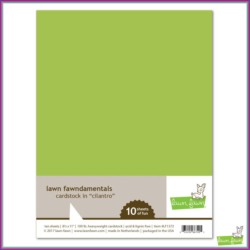 Lawn Fawn Cilantro Cardstock - Scrapbooking Supplies - Lawn Fawn - Orchids and Hummingbirds Designs, LLC