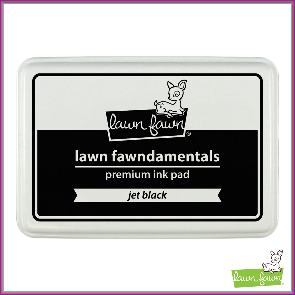 Lawn Fawn Jet Black Dye Ink Pad - Stamping Supplies - Lawn Fawn - Orchids and Hummingbirds Designs, LLC