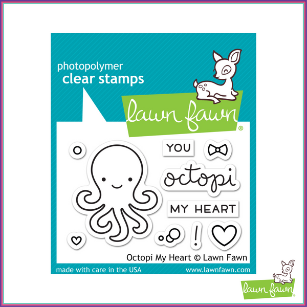 Lawn Fawn Octopi My Heart Stamp Set - Stamps - Lawn Fawn - Orchids and Hummingbirds Designs, LLC
