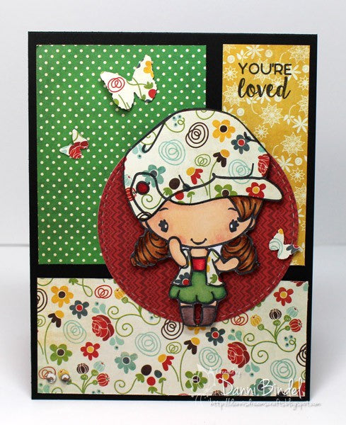 The Greeting Farm Lovable Anya Stamp Set - Stamps - The Greeting Farm - Orchids and Hummingbirds Designs, LLC