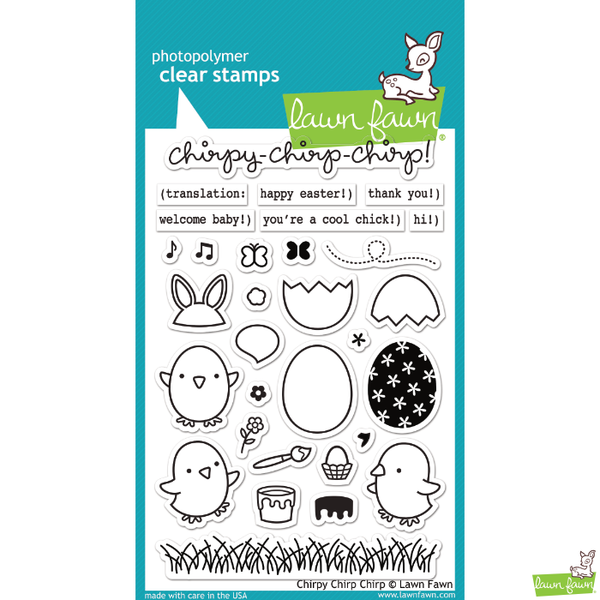 Lawn Fawn Chirpy Chirp Chirp Stamp Set - Orchids and Hummingbirds Designs, LLC