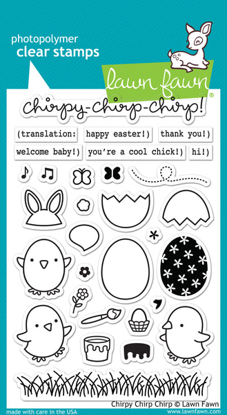Lawn Fawn Chirpy Chirp Chirp Stamp Set - Stamps - Lawn Fawn - Orchids and Hummingbirds Designs, LLC