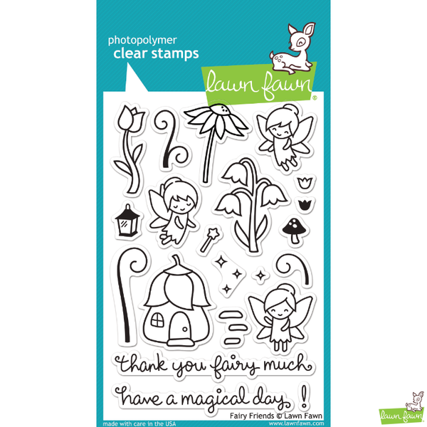 Lawn Fawn Fairy Friends Stamp Set - Stamps - Lawn Fawn - Orchids and Hummingbirds Designs, LLC