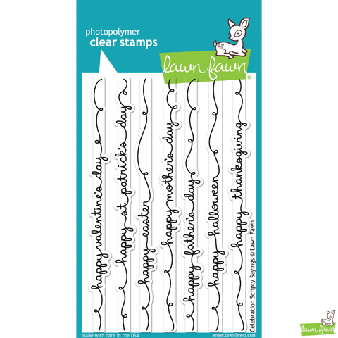 Lawn Fawn Celebration Scripty Sayings Stamp Set - Lawn Fawn - Orchids and Hummingbirds Designs, LLC