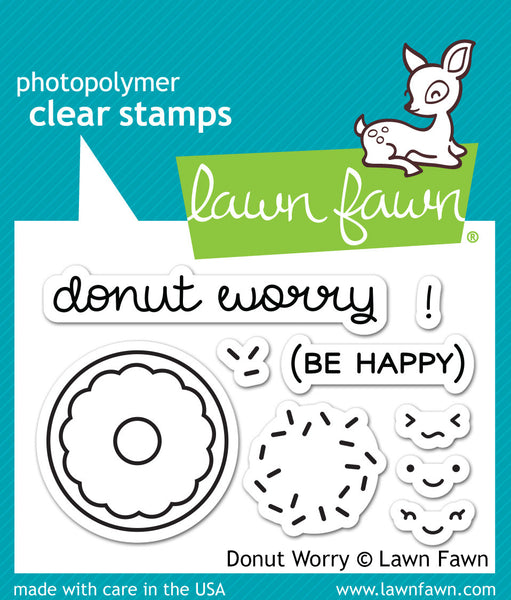 Lawn Fawn Donut Worry Stamp Set - Stamps - Lawn Fawn - Orchids and Hummingbirds Designs, LLC