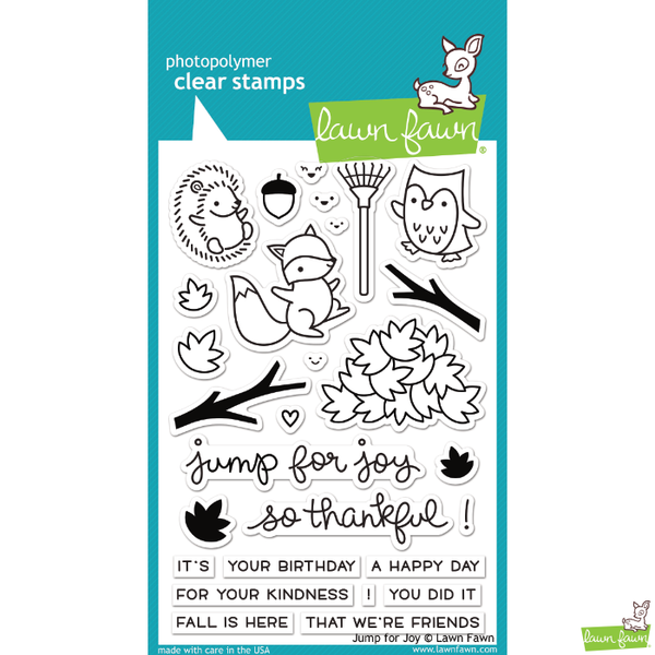 Lawn Fawn Jump for Joy Stamp Set - Stamps - Lawn Fawn - Orchids and Hummingbirds Designs, LLC