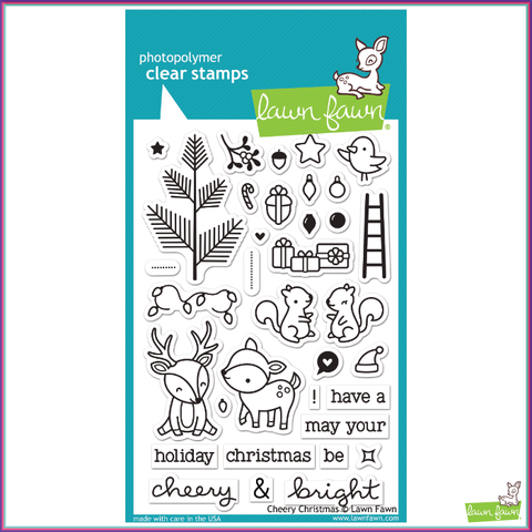 Lawn Fawn Cheery Christmas Stamp Set - Stamps - Lawn Fawn - Orchids and Hummingbirds Designs, LLC  - 1