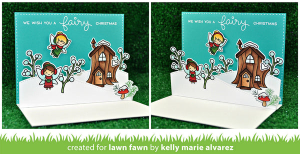 Lawn Fawn Frosty Fairy Friends Stamp Set - Stamps - Lawn Fawn - Orchids and Hummingbirds Designs, LLC