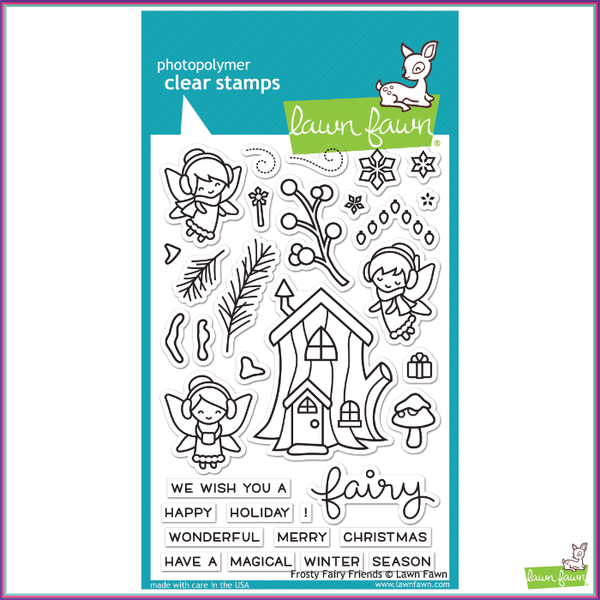 Lawn Fawn Frosty Fairy Friends Stamp Set - Orchids and Hummingbirds Designs, LLC