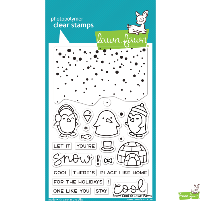Lawn Fawn Snow Cool Stamp Set - Stamps - Lawn Fawn - Orchids and Hummingbirds Designs, LLC