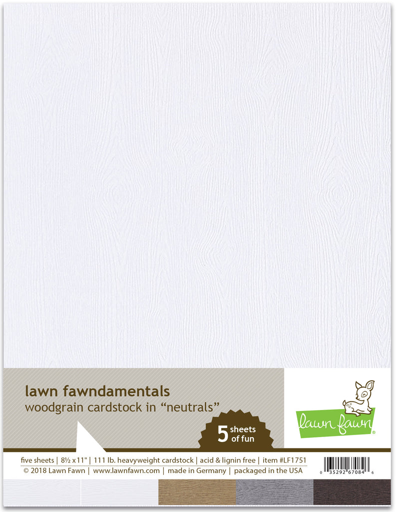 Lawn Fawn woodgrain cardstock - neutrals - Scrapbooking Supplies - Lawn Fawn - Orchids and Hummingbirds Designs, LLC