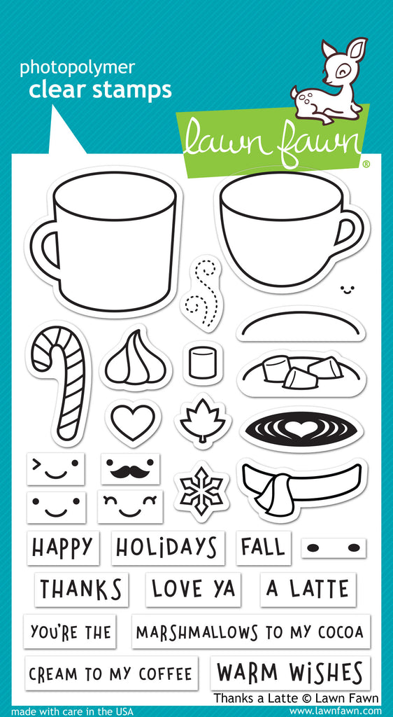 Lawn Fawn thanks a latte - Stamps - Lawn Fawn - Orchids and Hummingbirds Designs, LLC