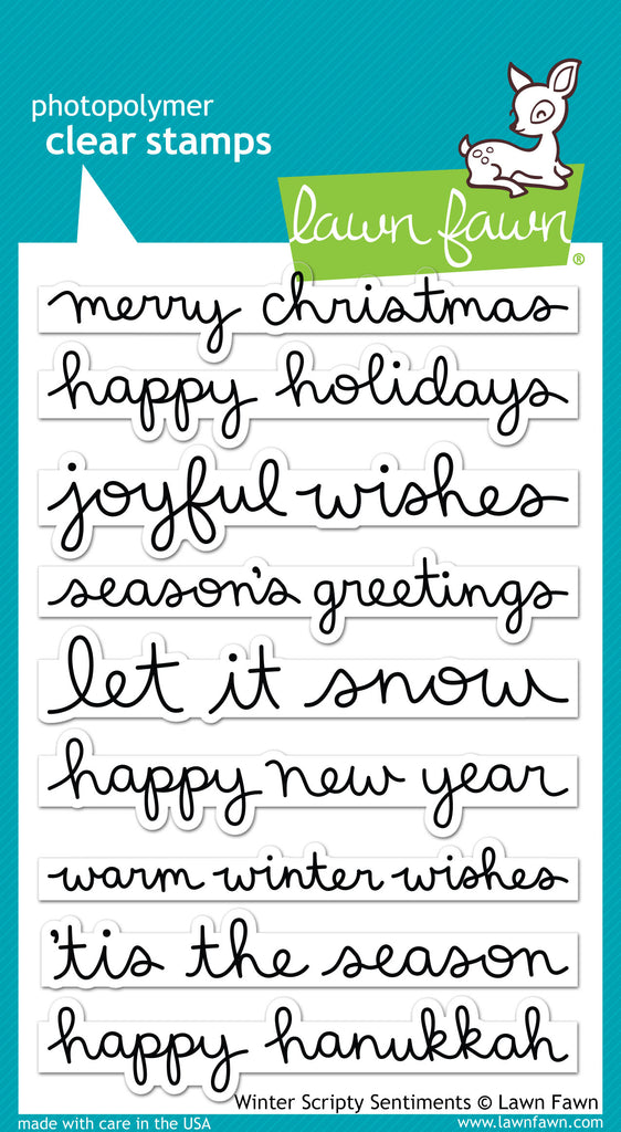 Lawn Fawn winter scripty sentiments - Stamps - Lawn Fawn - Orchids and Hummingbirds Designs, LLC