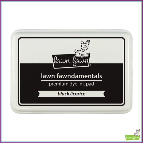 Lawn Fawn Black Licorice Dye Ink Pad - Stamping Supplies - Lawn Fawn - Orchids and Hummingbirds Designs, LLC