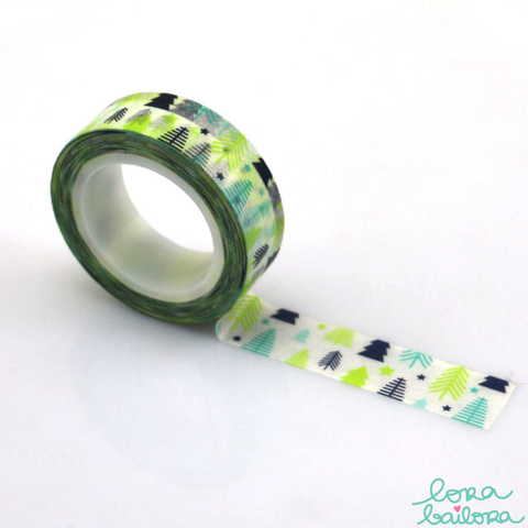 Lora Bailora Arbolitos Washi Tape - Washi Tape - Lora Bailora - Orchids and Hummingbirds Designs, LLC