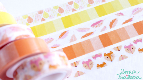 Lora Bailora Feathers Washi Tape - Orchids and Hummingbirds Designs, LLC