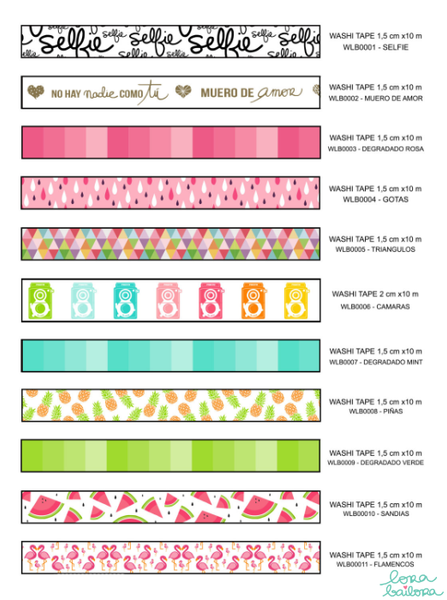 Lora Bailora Drops Washi Tape - Washi Tape - Lora Bailora - Orchids and Hummingbirds Designs, LLC