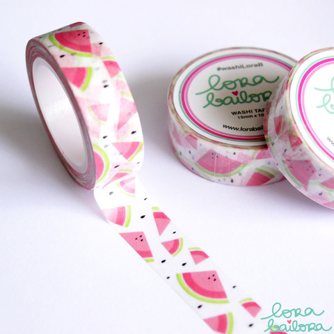 Lora Bailora Watermelon Washi Tape - Washi Tape - Lora Bailora - Orchids and Hummingbirds Designs, LLC
