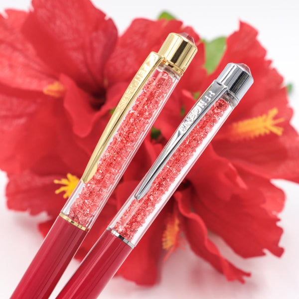 PenGems Aloha | Gold Crystal Pen - Pen - PenGems - Orchids and Hummingbirds Designs, LLC