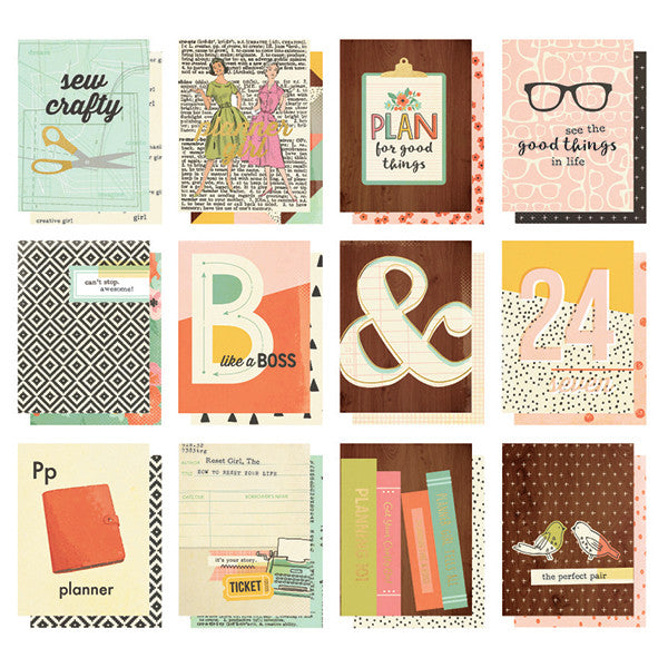 Simple Stories Carpe Diem The Reset Girl 3x4 Pocket Cards - Planners - Simple Stories - Orchids and Hummingbirds Designs, LLC
