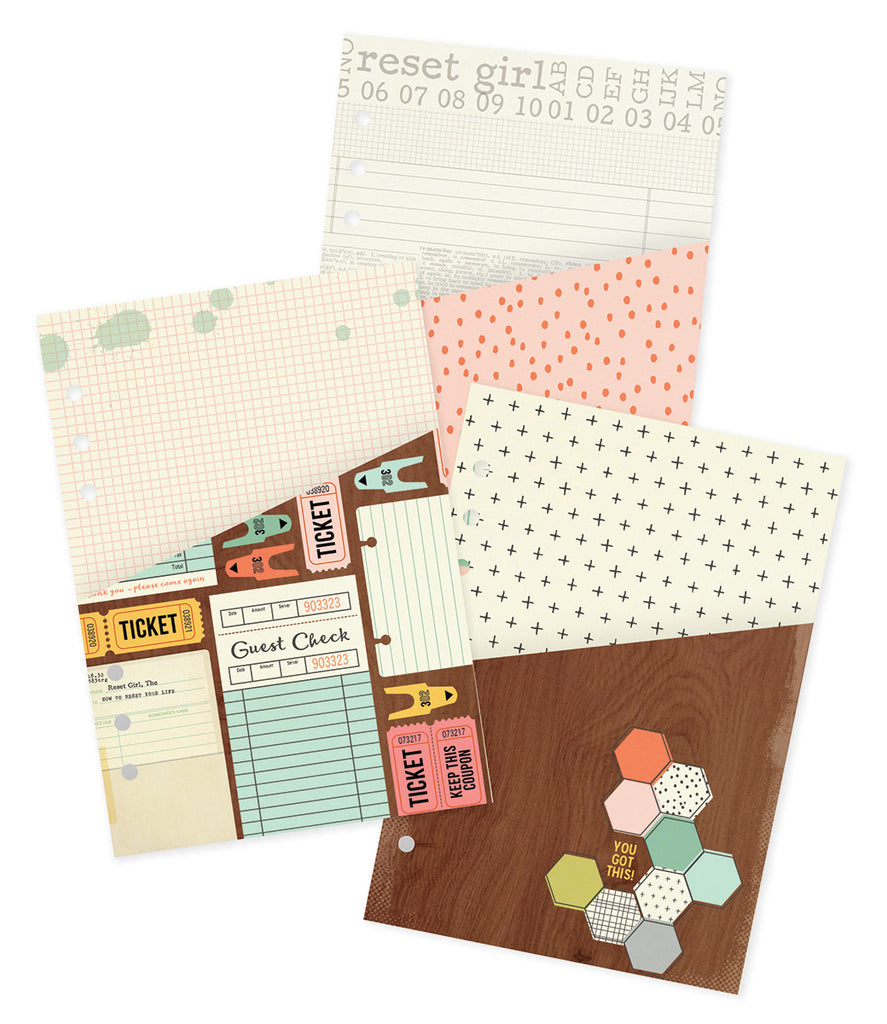 Simple Stories Carpe Diem The Reset Girl Pocket Inserts - Planners - Simple Stories - Orchids and Hummingbirds Designs, LLC