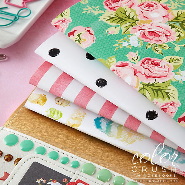 Webster's Pages Color Crush Floral & Dot Travelers Notebook Inserts - Orchids and Hummingbirds Designs, LLC