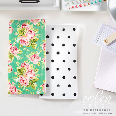 Webster's Pages Color Crush Floral & Dot Travelers Notebook Inserts - Stationery - Webster's Pages - Orchids and Hummingbirds Designs, LLC