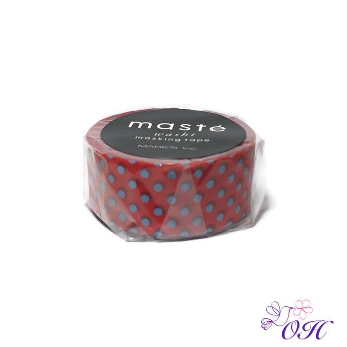 masté Red / Dot Washi Tape - Washi Tape - masté - Orchids and Hummingbirds Designs, LLC