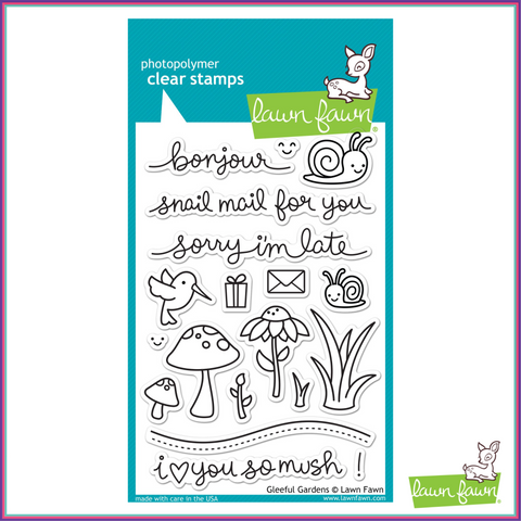 Lawn Fawn Gleeful Gardens Stamp Set - Stamps - Lawn Fawn - Orchids and Hummingbirds Designs, LLC