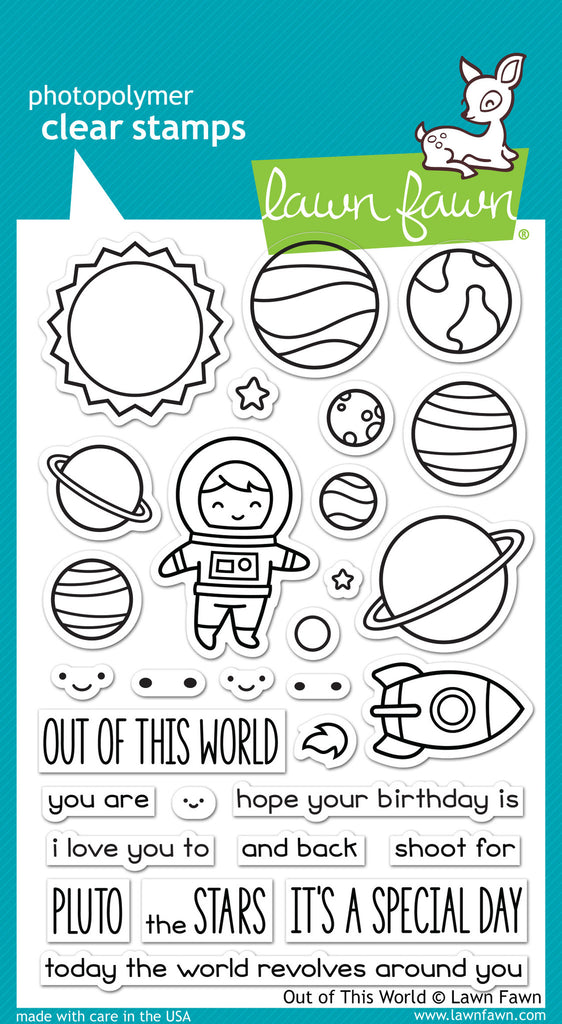 Lawn Fawn Out of This World Stamp Set - Stamps - Lawn Fawn - Orchids and Hummingbirds Designs, LLC