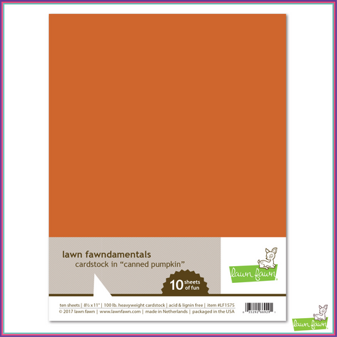 Lawn Fawn Canned Pumpkin Cardstock - Scrapbooking Supplies - Lawn Fawn - Orchids and Hummingbirds Designs, LLC