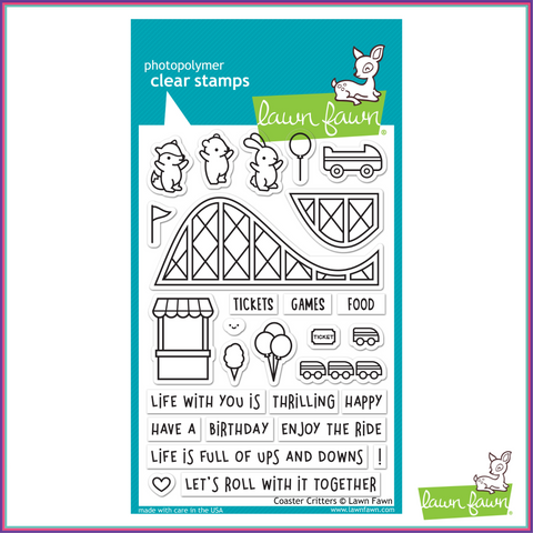 Lawn Fawn Coaster Critters Stamp Set - Stamps - Lawn Fawn - Orchids and Hummingbirds Designs, LLC