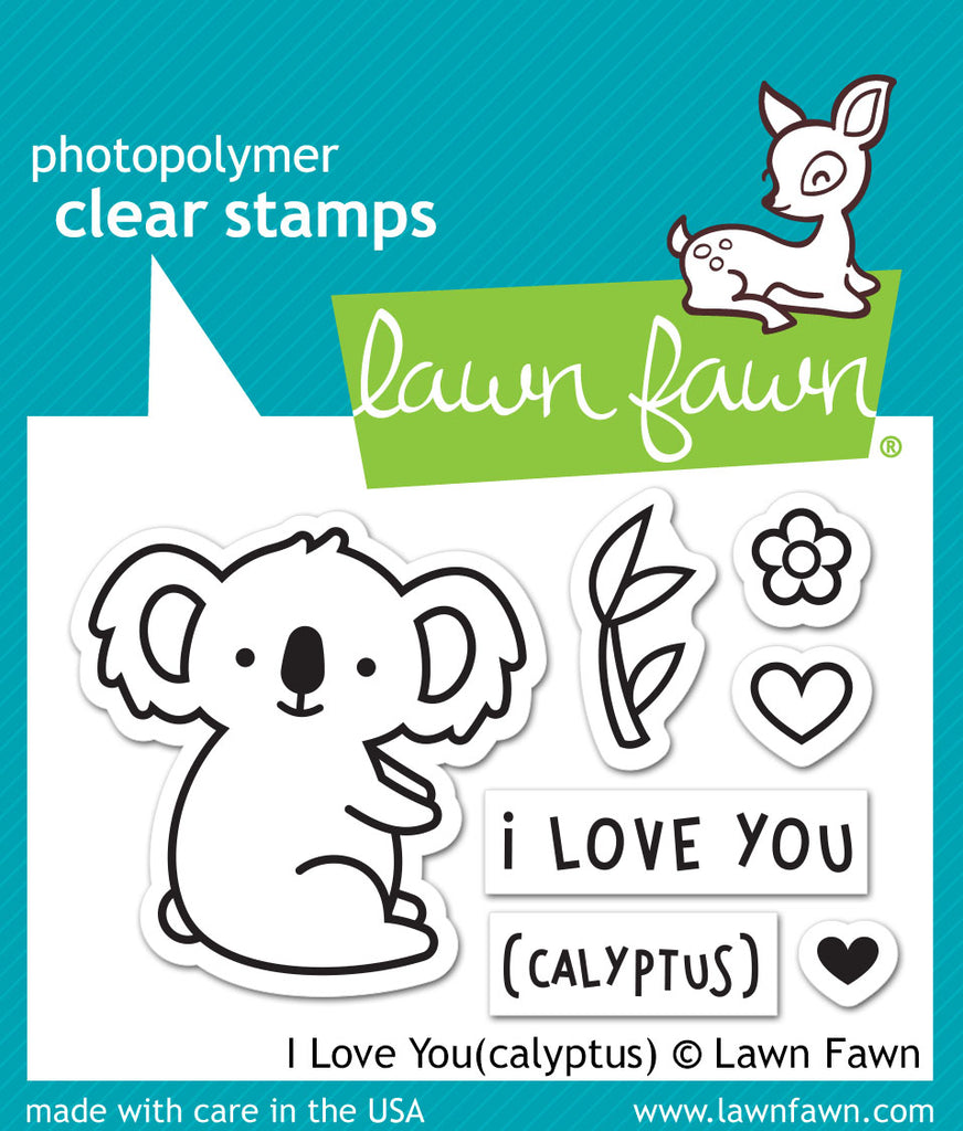 Lawn Fawn I Love You(calyptus) Stamp Set - Stamps - Lawn Fawn - Orchids and Hummingbirds Designs, LLC