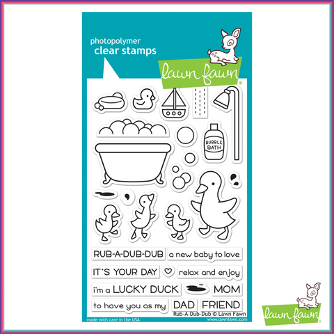 Lawn Fawn Rub-A-Dub-Dub Stamp Set - Stamps - Lawn Fawn - Orchids and Hummingbirds Designs, LLC