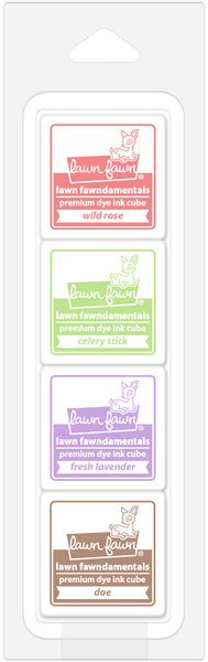 Lawn Fawn Tea Party Ink Cube Pack - Stamping Supplies - Lawn Fawn - Orchids and Hummingbirds Designs, LLC