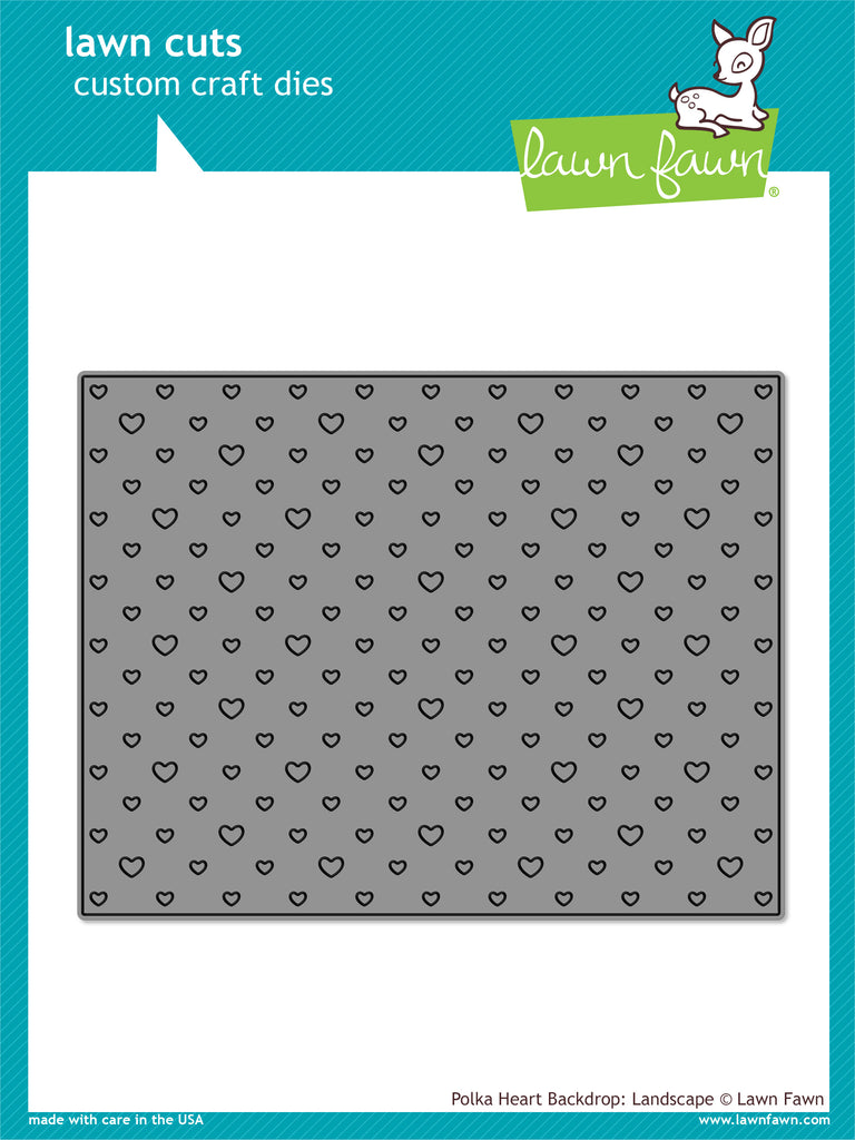 Lawn Fawn Polka Heart Backdrop: Landscape Dies - Dies - Lawn Fawn - Orchids and Hummingbirds Designs, LLC