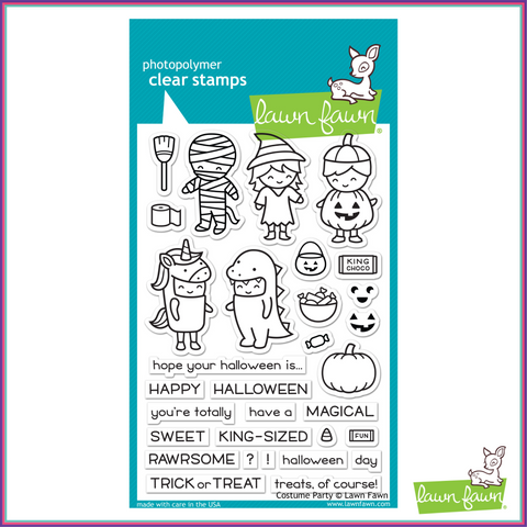 Lawn Fawn Costume Party Stamp Set - Stamps - Lawn Fawn - Orchids and Hummingbirds Designs, LLC