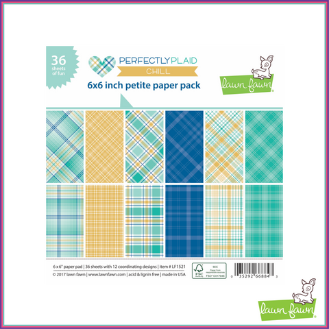 Lawn Fawn Perfectly Plaid Chill Petite Paper Pack - Scrapbooking Supplies - Lawn Fawn - Orchids and Hummingbirds Designs, LLC