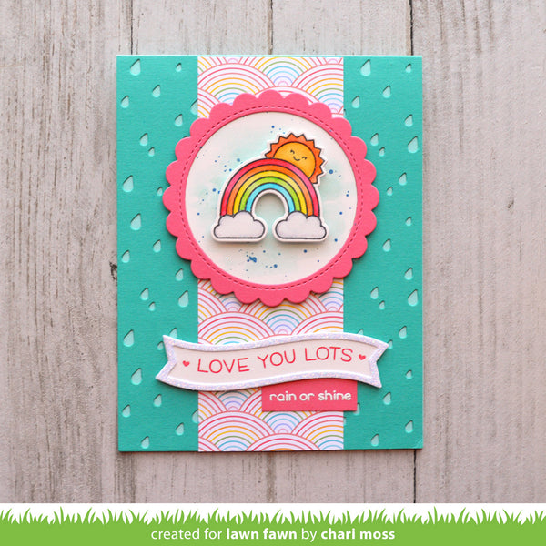 Lawn Fawn Rain or Shine Before 'n Afters Stamp Set - Stamps - Lawn Fawn - Orchids and Hummingbirds Designs, LLC