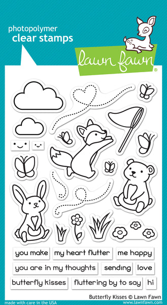 Lawn Fawn Butterfly Kisses Stamp Set - Stamps - Lawn Fawn - Orchids and Hummingbirds Designs, LLC