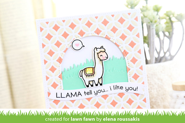 Lawn Fawn Llama Tell You Stamp Set - Stamps - Lawn Fawn - Orchids and Hummingbirds Designs, LLC