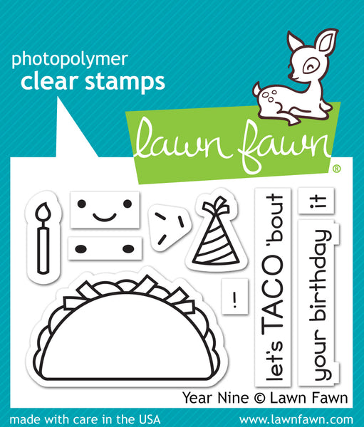 Lawn Fawn Year Nine Stamp Set - Stamps - Lawn Fawn - Orchids and Hummingbirds Designs, LLC