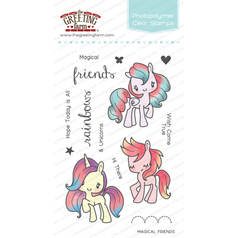 The Greeting Farm Magical Friends Stamp Set - Stamps - The Greeting Farm - Orchids and Hummingbirds Designs, LLC