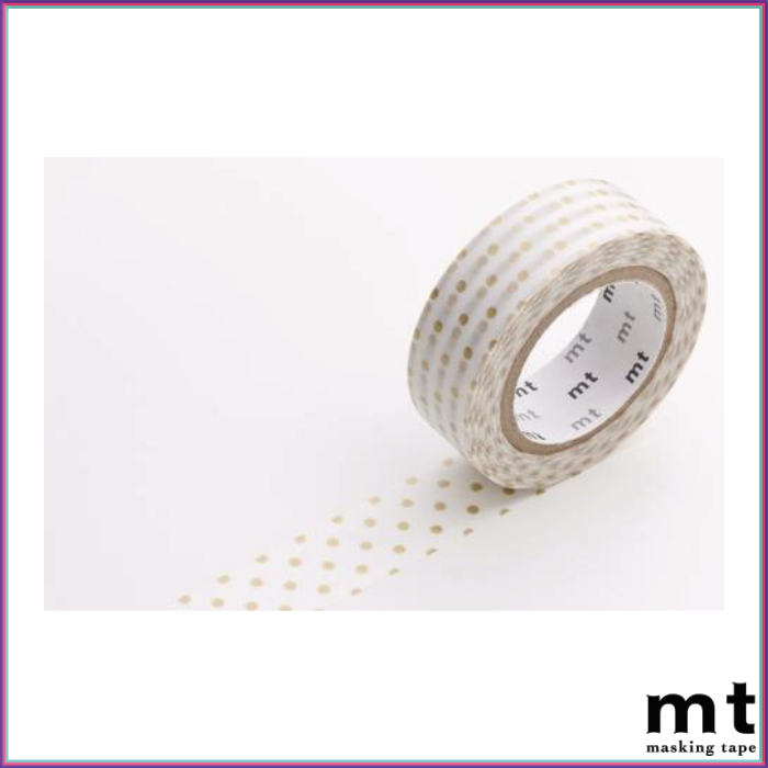 mt Dot S Gold Washi Tape - Washi Tape - mt - Orchids and Hummingbirds Designs, LLC
