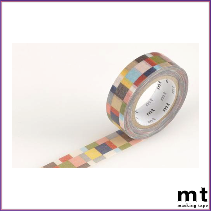 mt Mosaic Grayish Washi Tape - Washi Tape - mt - Orchids and Hummingbirds Designs, LLC