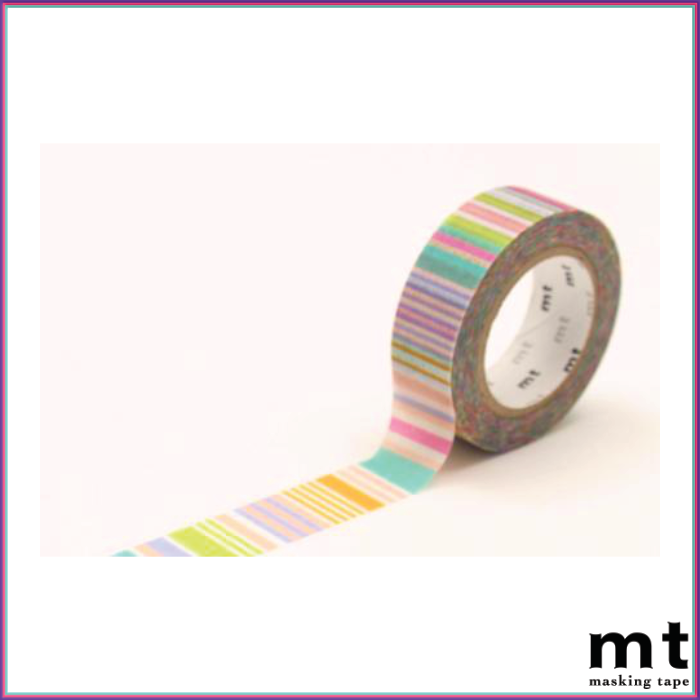 mt Multi-Border Pastel Washi Tape - Washi Tape - mt - Orchids and Hummingbirds Designs, LLC
