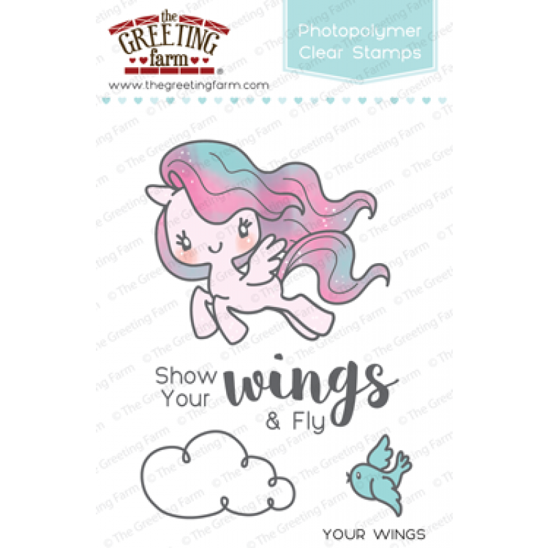 The Greeting Farm Your Wings Stamp Set - Stamps - The Greeting Farm - Orchids and Hummingbirds Designs, LLC
