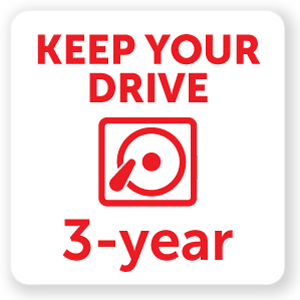 Three Year Enhanced with Drive Retention (first 90 days only)